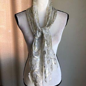 Girls silver sheer scarf